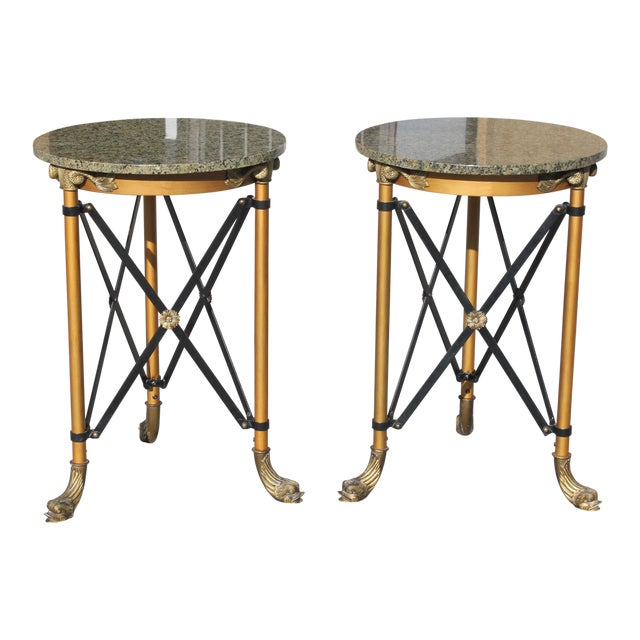 1920s French Neoclassical Bronze Side Tables - a Pair For Sale