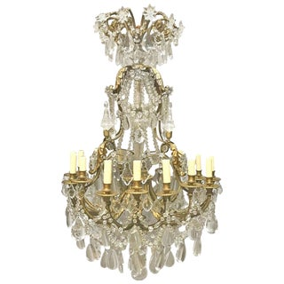 French Louis XV Style Gilt Bronze Chandelier, 19th Century For Sale