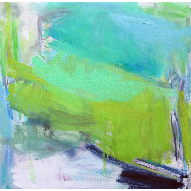 """""""After the Downpour"""" by Trixie Pitts Abstract Expressionist Oil Painting For Sale - Image 10 of 10"""