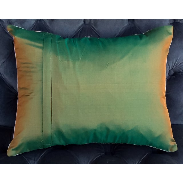 Embroidered Silk Pillows - 2 - Image 4 of 4