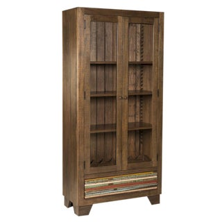 Bookcase/China Display Cabinet 100% Solid Reclaimed Wood