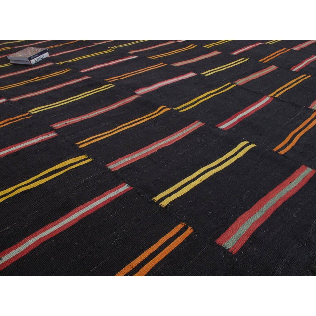 Large Kilim with Bright Stripes For Sale - Image 4 of 9