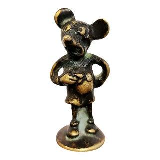 Austrian Brass Mickey Mouse Figure For Sale