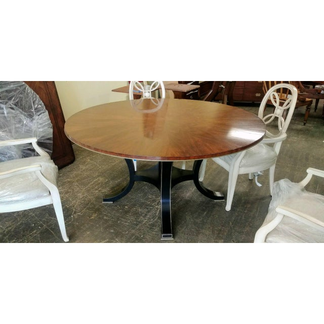 Henredon Furniture Acquisitions Paris Yvon Hollywood Regency Round Dining  Table