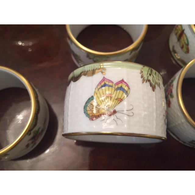 Late 20th Century Herend China Queen Victoria Napkin Rings - Set of 8 For Sale In New York - Image 6 of 9