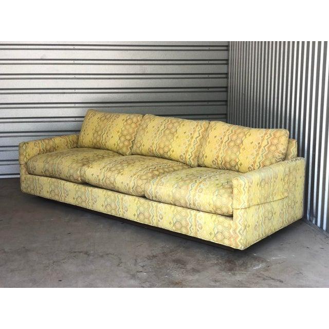 Textile Milo Baughman for Thayer Coggin Woven Jacquard Sofa For Sale - Image 7 of 8