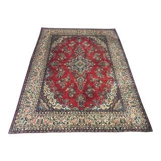 "Vintage Persian Oriental Kerman Wool Carpet - 10'3"" x 13'6"" For Sale"