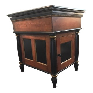 19th Century Traditional Style Sink Basin & Cabinet For Sale
