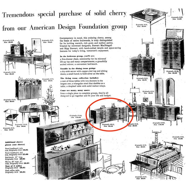 Brown 1960s Kipp Stewart for American Design Foundation Mid Century Modern 6 Drawer Dresser For Sale - Image 8 of 9