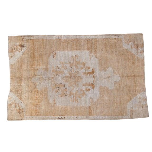 "Distressed Oushak Carpet - 5'10"" X 9'1"" - Image 1 of 10"