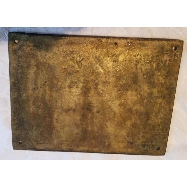 """Mid-Century Modern Vintage """"Beware of Bow Wow"""" Brass Plaque/Sign For Sale - Image 3 of 5"""