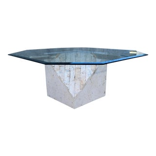 Art Deco Maitland-Smith Style Tessellated Stone Coffee Table For Sale