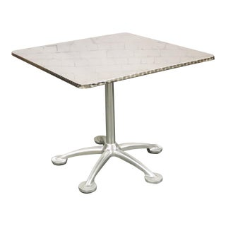 Knoll Jorge Pensi Stainless Steel Square Top Star Base, Toledo Bistro Table