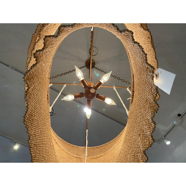 Three Tier Woven Bead Chandelier For Sale In Los Angeles - Image 6 of 9