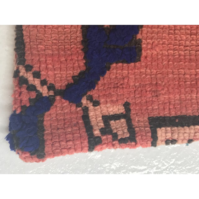 Vintage Moroccan Stuffed Wool Pillow - Image 5 of 9