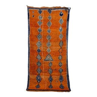 "Boujad, Vintage Moroccan Rug, 4'3"" X 8'10"" Feet For Sale"