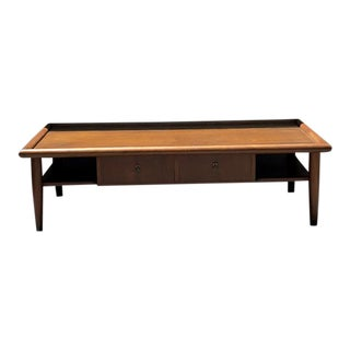 Custom Wooden Mid-Century Coffee Table For Sale