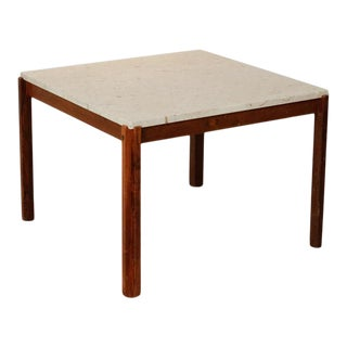 Ivory Stone and Rosewood legs Coffee/Side Table For Sale