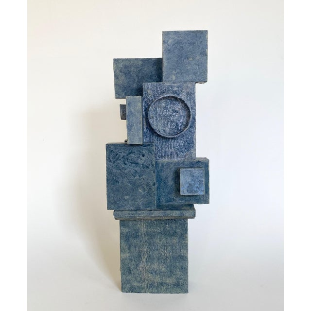 Mid-Century Modernist / Cubist Abstract Sculpture For Sale - Image 4 of 6