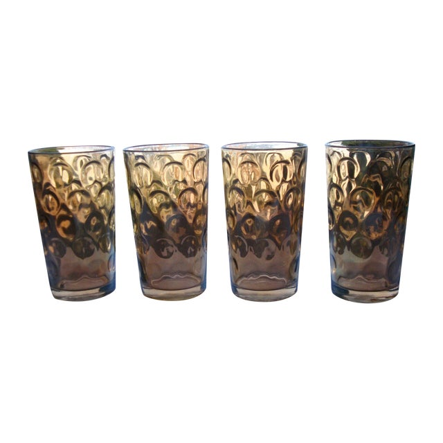 Mid-Century Hollywood Regency High Ball Glasses - Image 1 of 11