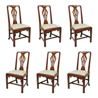 Statton Centennial for Duckloe Chippendale Style Cherry Dining Chairs - Set of 6 For Sale