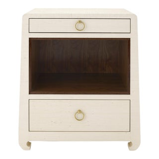 Bungalow 5 Ming 2-Drawer Lacquered Natural Grasscloth Side Table