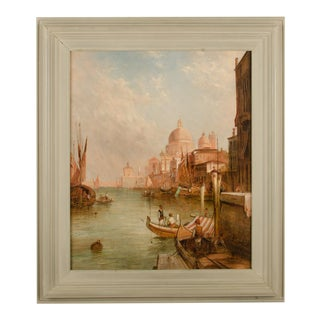 """Late 19th Century """"S. Maria Della Salute, Venice"""" Oil Painting by Alfred Pollentine, Framed For Sale"""