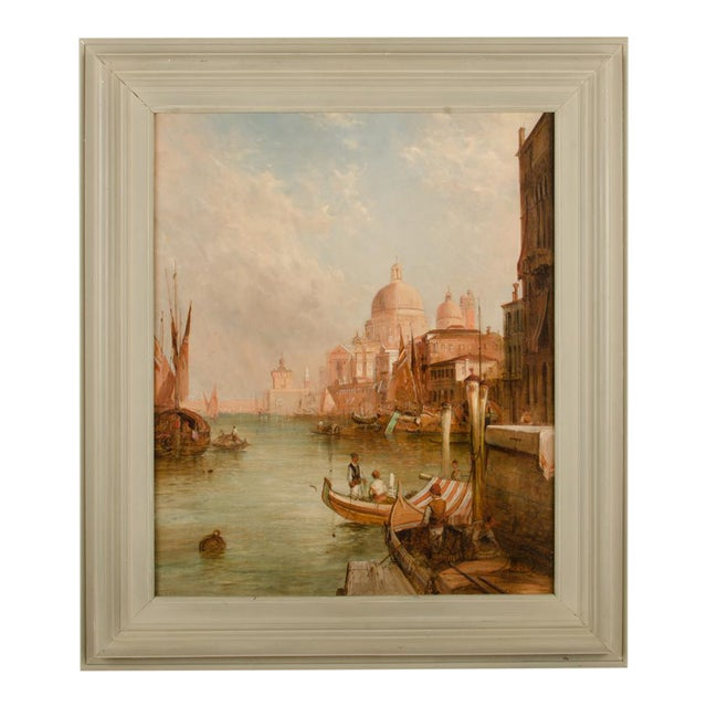 "Late 19th Century ""S. Maria Della Salute, Venice"" Oil Painting by Alfred Pollentine, Framed For Sale"