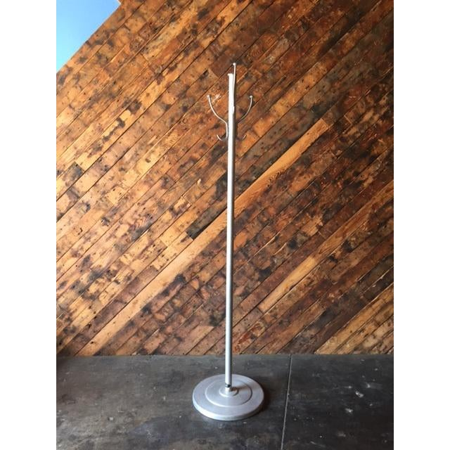 Mid Century Aluminum Coat Rack by Aero Art aluminum, weighted base, perfect for hats or coats, made by Aero Art Length:16...