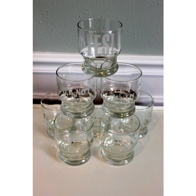 1970s Rocks Glasses with Etched Sayings - Set of 8 - Image 9 of 9