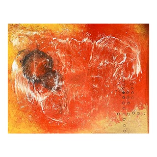 'Very Large Abstract, Saffron and Coral', American School, 1990s For Sale