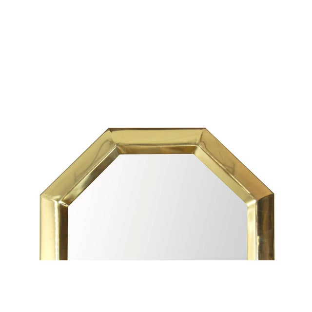 1950s Octagonal Brass Frame Mirrors - a Pair For Sale In New York - Image 6 of 8