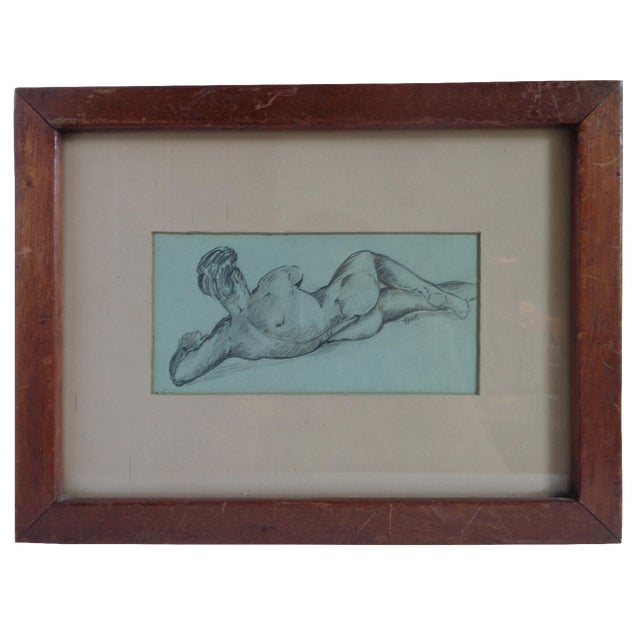 1940s Male Nude Study - Image 1 of 5