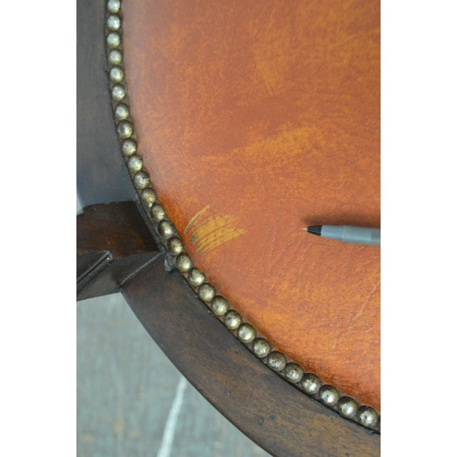 Victorian Antique Mahogany Swivel Desk Chair For Sale - Image 11 of 13