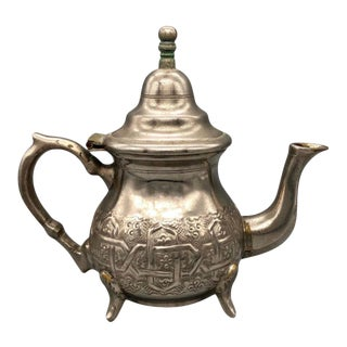 Moroccan Engraved Tea Pot For Sale