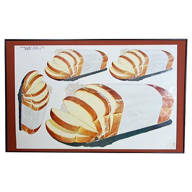 Vintage 1960 Bread Advertisement Cut Sheet Poster - Image 2 of 5