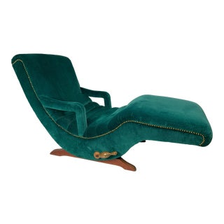 Vintage Mid-Century Contour Green Lounge Chair For Sale