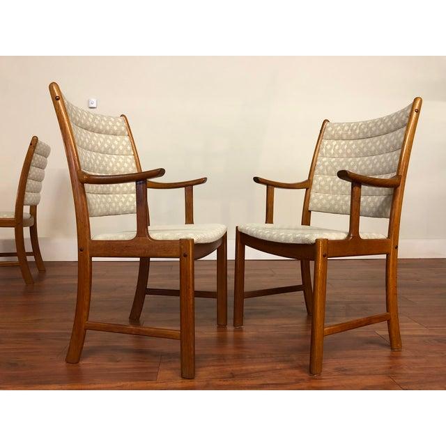 Wood Johannes Andersen for Uldum Vintage Teak Dining Chairs - Set of 6 For Sale - Image 7 of 12