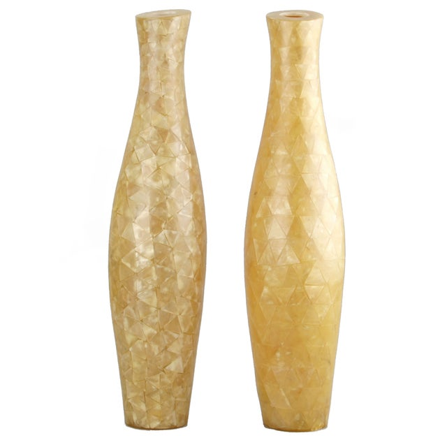 Capiz Shell Vases - A Pair - Image 1 of 9