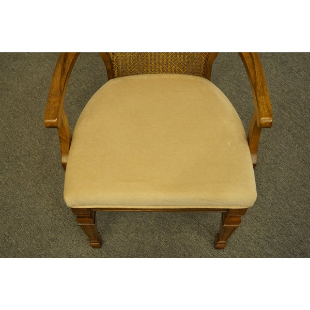 Late 20th Century Late 20th Century Bernhardt Furniture Italian Provincial Cane Back Dining Arm Chair For Sale - Image 5 of 11