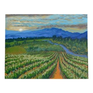 Vineyard Acrylic Painting by Jennifer Laurel Keller