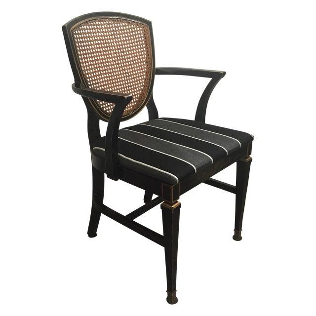 Hepplewhite Style Ebony Chinoiserie Chair - Image 1 of 10