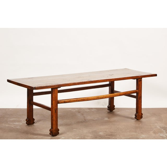 Brown Early 19th Century Chinese Elm Table For Sale - Image 8 of 9