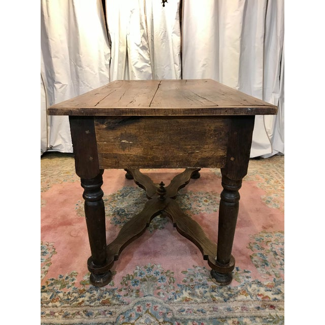Late 19th Century French Walnut Work Table With Drawers For Sale - Image 5 of 8