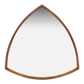 Danish Triangular Rosewood Mirror For Sale