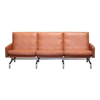 Fritz Hansen Pk31/3 Leather Sofa C.2017 For Sale