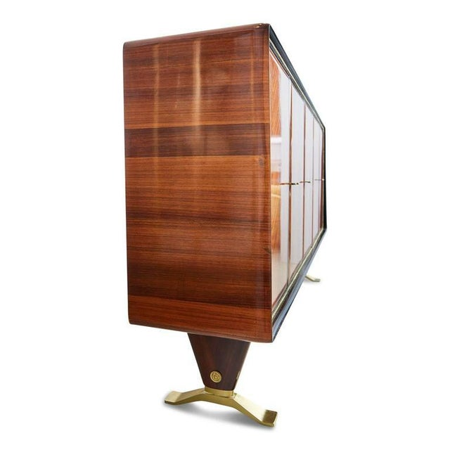 1950s Paolo Buffa Chevron Parquetry Italian Rosewood Buffet For Sale - Image 5 of 9