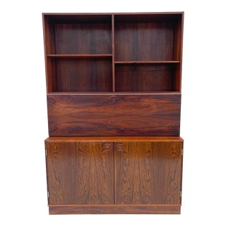 Mid-Century Modern Rosewood Bookshelf Cabinet by Lovig For Sale