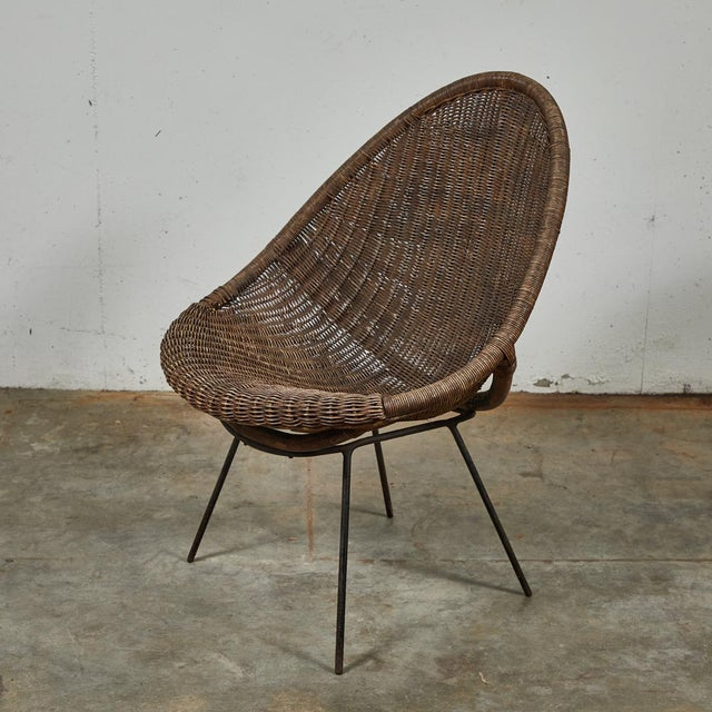 Mid-Century Bamboo and Rattan Chairs From France - a Pair For Sale In Los Angeles - Image 6 of 11