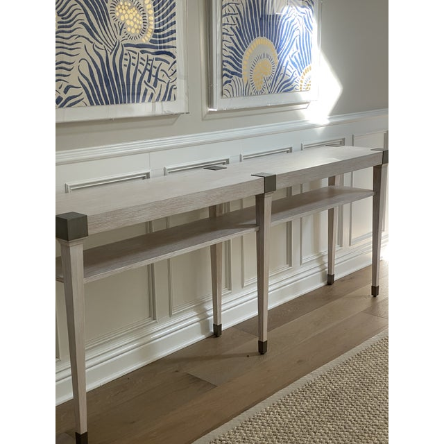 2020s Modern Light Wood Console For Sale - Image 5 of 6